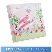 little bird & ellie photo album pink in gift box one supplied