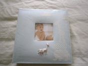 baby boy photo album elli raffe blue 40 pages double sidded