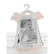 Silver Pink Baby Dress photo Frame