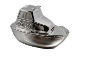 Personalised Silver Plated Life Boat Money Box, Engraved Free