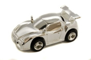 Personalised Silver Plated Sports Racing Car Money Box Engraved Gift