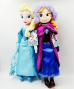 "Frozen 20""Sisters Doll Set Featuring Plush Dolls of Anna and Elsa about 50cm Kids Gifts"