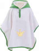 Smithy 1301009 Bath Poncho with Frog Design 50 x 70 cm White