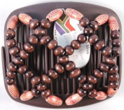 African Butterfly hair clip Ndebele 1173 11cm Brown comb