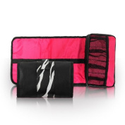 Manicure Tool Pouch Zebra Print Nail Art Equipment Holder Professional Salon Storage Supplies