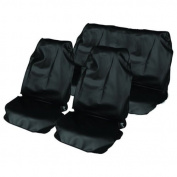 Universal fit water resistant nylon full set seat protectors
