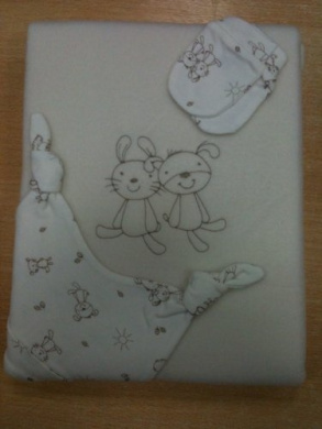 Gift Set - Includes Pram Blanket, Mittens And Hat