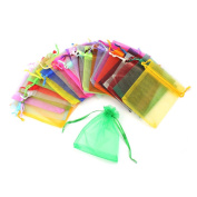 RHX Wholesale Lots Beautiful 100 Pcs Mixed Colour Organza Jewellery Gift Pouch Bag Hot