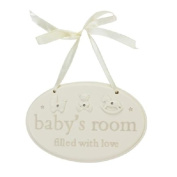 Bambino Resin Baby's Room Hanging Plaque
