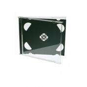 25x Premium Grade Double CD Jewel Case With Black Tray