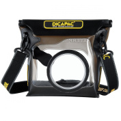 DiCAPac WP-S3 waterproof Case for Hybrid mirrorless and DSLM cameras with interchangeable lenses like SONY NEX etc.