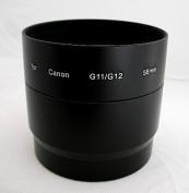 58mm 58 Lens Filter Adapter Tube for Canon PowerShot G11/G12 Camera