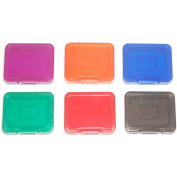 6 x Assecure Pro tough plastic storage case holder covers for SD SDHC & Micro SD memory cards