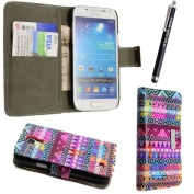 LEATHER MAGNETIC CARD POCKET BOOK FLIP CASE COVER POUCH + FREE STYLUS