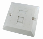 1 Port Single Socket RJ45 Network Cat 5e FacePlate Ethernet Wall Plate