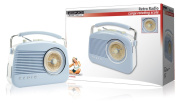 Konig 30's 40's 50's Retro Table Radio - Baby Blue