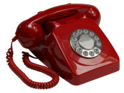 Protelx GPO 746 Rotary Phone - Red