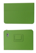 Mr.Gadget Solutions® Branded PU Leather Stand Case For for for for for for for for for for for Samsung Tab 2 18cm P3100 With Free Stylus + Screen Protector + Cleaning Cloth - Green