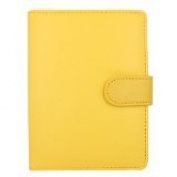 CaseGuru Smooth Notepad Style Wallet Case Cover for Kobo Glo with FREE Screen Protector - Orange
