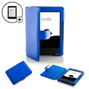 Forefront Cases® Case Cover For Kindle 4, 15cm E Ink Display, Wi-Fi, Black - Blue Leather Case Cover Wallet Specially For Kindle, 15cm E Ink Display, Wi-Fi, Black - Sept 2012 Release + SCREEN PROTECTOR