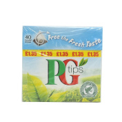PG Tips Pyramid Teabags 40s 125g