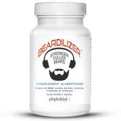 Beardilizer® - #1 Facial Hair and Beard Growth Complex for Men - 90 Capsules Powerful Nutrients Blend