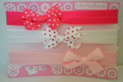 Cute stretch bow headbands pk3 by Soft Touch - Spotty