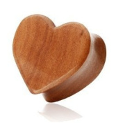 12mm Organic Cherry Wood Wooden Heart Solid Saddle Plug Tunnel Available from 8mm - 25mm In our Pegasus Body Jewellery Amazon Shop