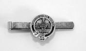 Scottish Clan Robertson Crest Tie Clip (slide), English Pewter, Gift Boxed