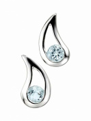 Elements Sterling Silver Ladies' E3057T Blue Topaz Teardrop Earrings