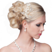 Stunning Hair Comb With Flowers and Pearls - SH-DL-H566