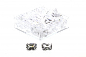 Birth Stone Jewels 7x5mm Diamond White Emerald Cut Cubic Zirconia Gem Stones Pack Of 2