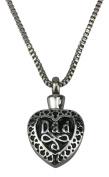 Dad Heart Urn Pendant - Memorial Ash Keepsake - Cremation Jewellery