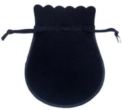 Black velvet jewellery pouch with drawstring, jewellery bag for travel, extra large