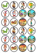 Jake & The Neverland Pirates Edible Wafer Rice Paper 24 x 4.5cm Cupcake Toppers/Decorations