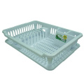White Hobby Medium Plastic Dish Drainer Plate and Cutlery Rack with Drip Tray