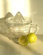 Vintage style glass juicer and measuring jug