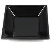 "Finishes Touches Party Store 60 Disposable Plastic Black Square Bowls - 7"" 18Cm Buffets Parties- Desserts"