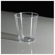 Thali Outlet - 200 x Clear Plastic 50ml 2oz Shot Sampling Glasses Disposable