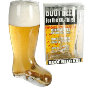 LARGE GLASS BEER BOOT XXL CIDER PINT OF LAGER DRINKING GAMES GIFT FUN 800ML NEW