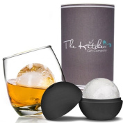 Rocking Whiskey Glass & MEGA Ice Ball Set - Whisky Gift Set