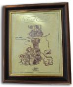 Royal Enfield Bullet 350 & 500 Gold Leaf Limited Edition Engine Drawing