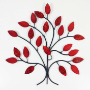 Contemporary Metal Wall Art Decor Sculpture - Fire Summer Tree Branch