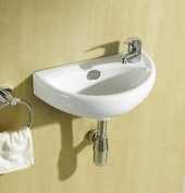 Hand Wash Basin Compact 1 Tap Hole Incl Basin Tap & Waste