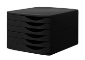 Jalema 6 Closed Drawers Desktop Set - Black