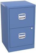 Bisley Home Filer A4 672x413x400mm Metal Filing Cabinet - Blue