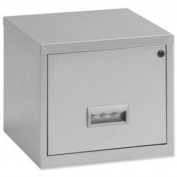 Pierre Henry Filing Cube Cabinet Steel Lockable 1 Drawer A4 W400xD400xH400mm Silver Ref 599000