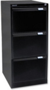 Bisley 1633-at5-801 1016x470x622mm BS3E Foolscap Flush Front Filing Cabinet with 3 Drawers - Black