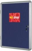 Bi-Office 1200 x 900mm Lockable Internal Display Case - Blue