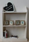 Free standing pine bookcase, Vanilla 60cm